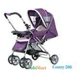 xe đẩy em bé Coozy 206 màu tím